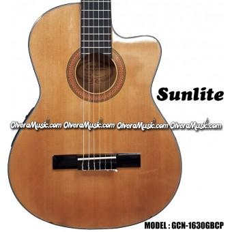 SUNLITE 1600 Series 4/4 Classical Guitar Cutaway w/Passive Pre-Amp - Natural