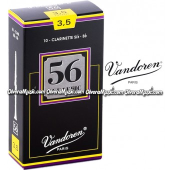 VANDOREN 56 Rue Lepic Bb Clarinet Reeds- Box of 10