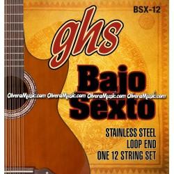 GHS Bajo Sexto Complete String Set