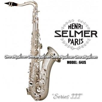 """SELMER PARIS """"Serie III"""" Edición Jubilee Saxofón Tenor Profesional - Plateado"""