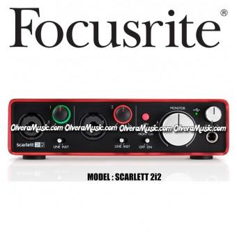 FOCUSRITE Scarlett 2i2 Segunda Generación USB Audio Interface