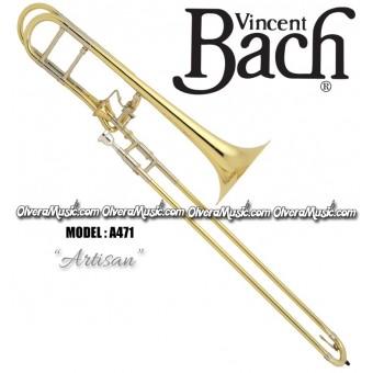 """BACH Stradivarius """"Artisan"""" Trombón Tenor Modelo """"Infinity"""" Profesional de Vara - Lacquer"""