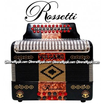 ROSSETTI Volcano Button Accordion - New Design