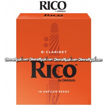 RICO Bb Clarinet Reeds - Box of 10