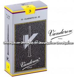 VANDOREN V12 Bb Clarinet Reeds - Box of 10