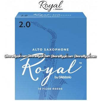 RICO ROYAL Alto Saxophone Reeds - Box of 10