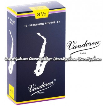 VANDOREN Traditional Alto Saxophone Reeds - Box of 10