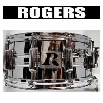 ROGERS 14x6.5 Big R 10-Lug Snare (USED)