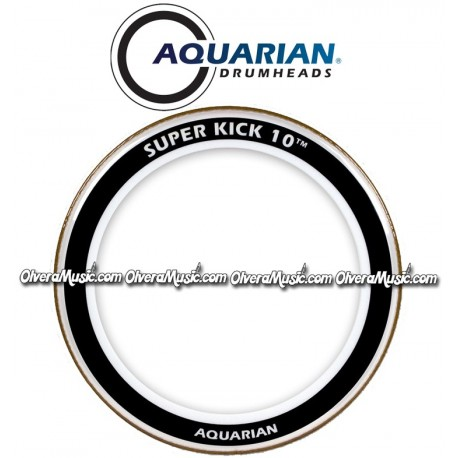 aquarian super kick 10 clear double ply drumhead olvera music. Black Bedroom Furniture Sets. Home Design Ideas