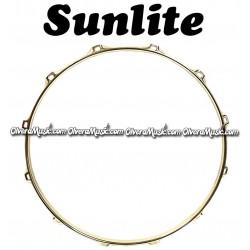"SUNLITE 14"" Brass Plated Top Snare Hoop 12-Lug"