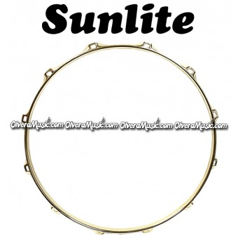 "SUNLITE 14"" Brass Plated Top Snare Hoop 12-Lug"