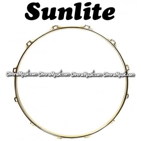 SUNLITE Brass Plated Top Snare Hoop - 10 Lug
