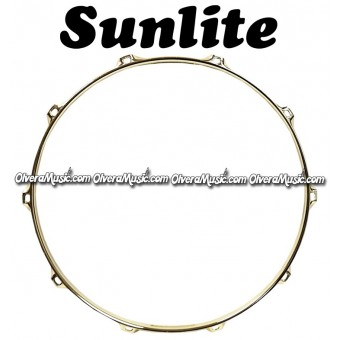 "SUNLITE 14"" Brass Plated Top Snare Hoop 10-Lug"