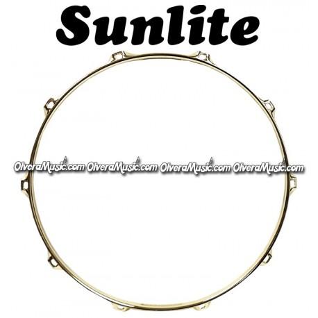 "SUNLITE 14"" Brass Plated Top Snare Hoop 10-Lug"