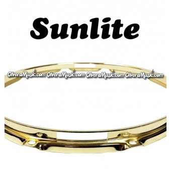 "SUNLITE 14"" Brass Plated Bottom Snare Hoop - 12 Lug"