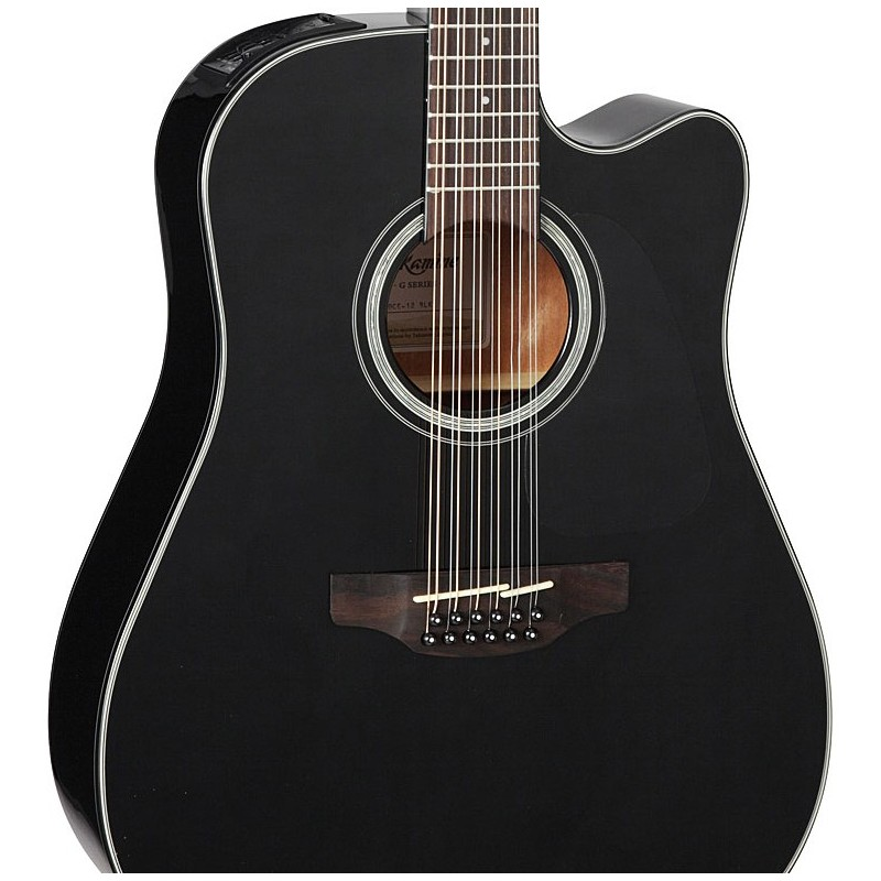 takamine g30 series acoustic electric 12 string guitar black olvera music. Black Bedroom Furniture Sets. Home Design Ideas