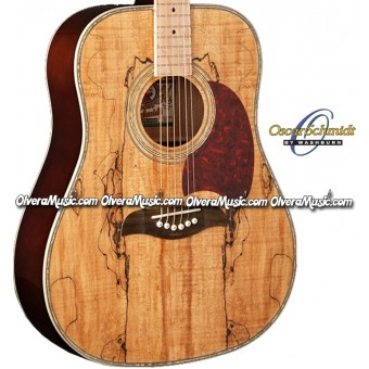 OSCAR SCHMIDT by Washburn Dreadnought Acoustic Guitar - Spalted Maple Top