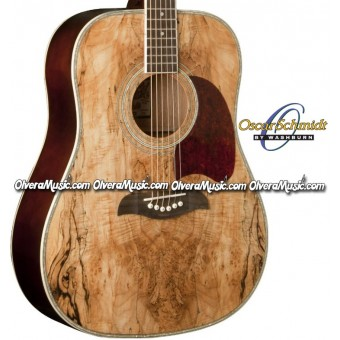 OSCAR SCHMIDT by Washburn Dreadnought Acoustic Guitar - Spalted Maple