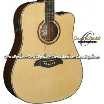 OSCAR SCHMIDT by Washburn Dreadnought Acoustic-Electric Guitar - Natural