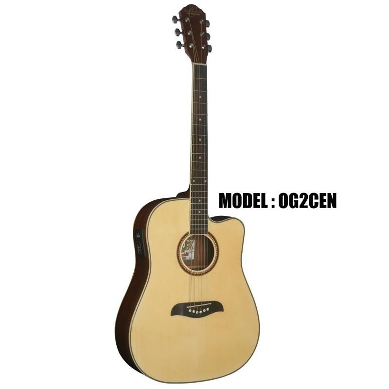 oscar schmidt by washburn dreadnought acoustic electric guitar natural olvera music. Black Bedroom Furniture Sets. Home Design Ideas