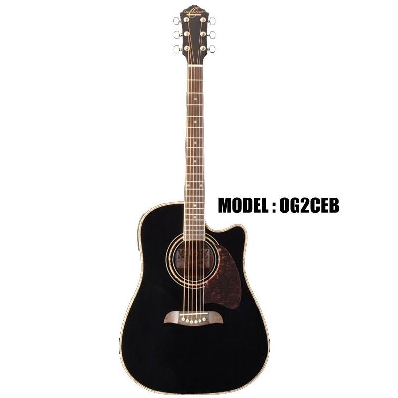 oscar schmidt by washburn dreadnought acoustic electric guitar black olvera music. Black Bedroom Furniture Sets. Home Design Ideas