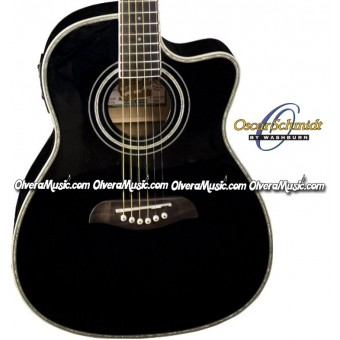 OSCAR SCHMIDT by Washburn Acoustic/Electric 3/4 Guitar - Black