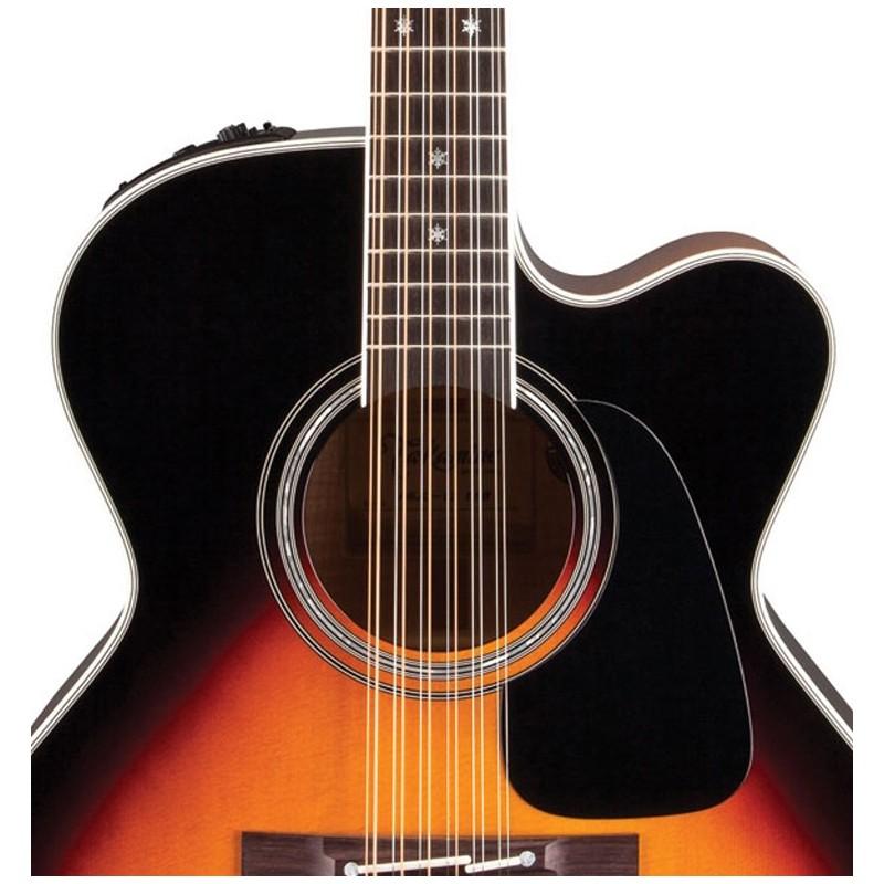 takamine pro series 6 acoustic electric 12 string guitar brown sunburst olvera music. Black Bedroom Furniture Sets. Home Design Ideas