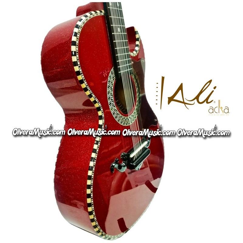 ali acha 12 string bajo quinto style acoustic guitar glitter red olvera music. Black Bedroom Furniture Sets. Home Design Ideas