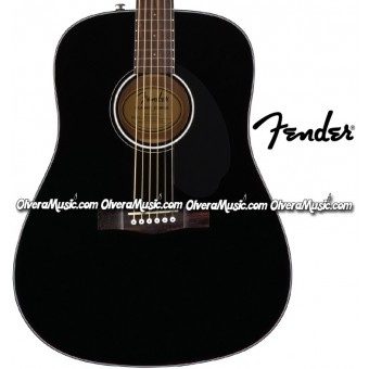 FENDER Dreadnought Acoustic Guitar - Black