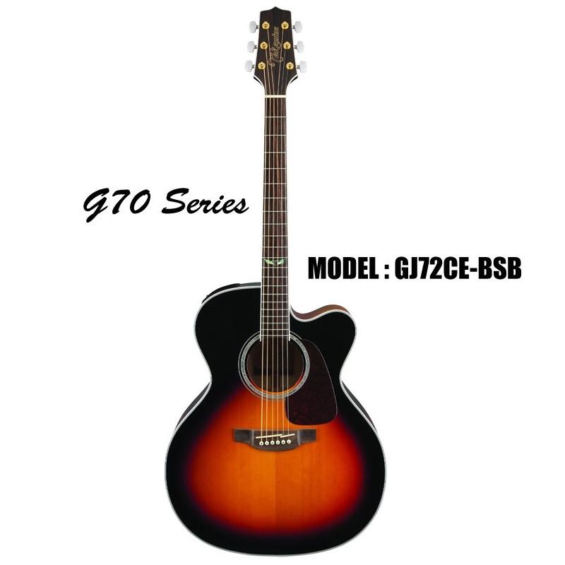 takamine g70 series acoustic electric jumbo 6 string guitar sunburst olvera music. Black Bedroom Furniture Sets. Home Design Ideas