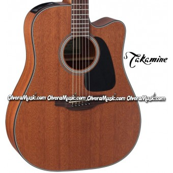 TAKAMINE Dreadnought Acoustic/Electric 6-String Guitar - Natural Brown