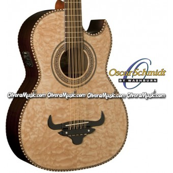 OSCAR SCHMIDT by Washburn Traditional Bajo Quinto - Quilt Natural