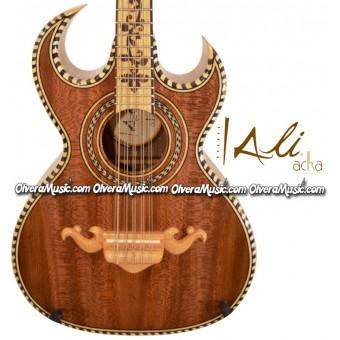 ALI ACHA Professional Bajo Quinto Double-Cutaway - Beech Wood