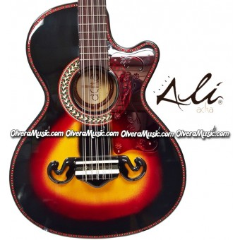ALI ACHA Traditional Bajo Quinto Cypress Wood - Sunburst