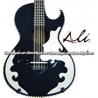 ALI ACHA Traditional Bajo Quinto Cypress Wood - Black Matte