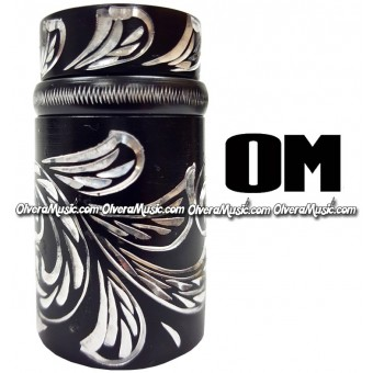 OM Clarinet Aluminum Tuning Barrel w/Engraving - Black