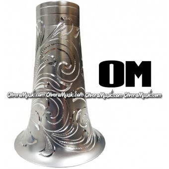 OM Clarinet Aluminum Bell Engraved - Chrome Finish