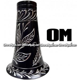 OM Aluminum Clarinet Bell w/Engraving - Black