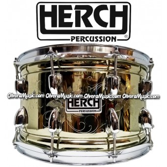 HERCH Snare 14x8 Flower Engraving 10-Lug