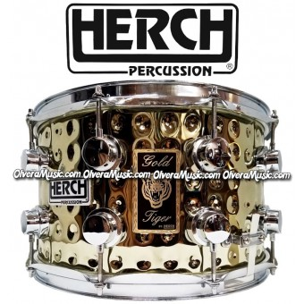HERCH Snare 14x8 Gold Tiger 10-Lug