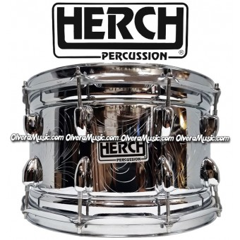 HERCH Snare 14x8 Chrome/Engraved 10-Lug