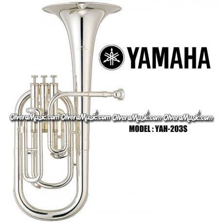 Alto Horns Brass Shop For Cheap Yamaha Alto Horn Eb 3 Piston Top Action Yah-203s Silver-plated Brand New