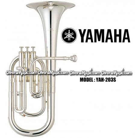 Alto Horns Shop For Cheap Yamaha Alto Horn Eb 3 Piston Top Action Yah-203s Silver-plated Brand New