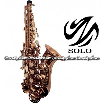 SOLO Saxofón Soprano Curvo Modelo Estudiante - Lacquer