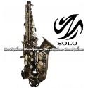 SOLO Student Model Curved Soprano Saxophone - Antique Brushed Bronze Finish