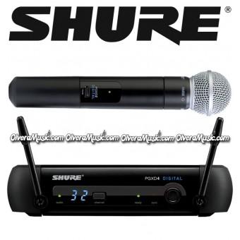 SHURE Micrófono Vocal Inalámbrico de Mano - Sistema SM58 Digital