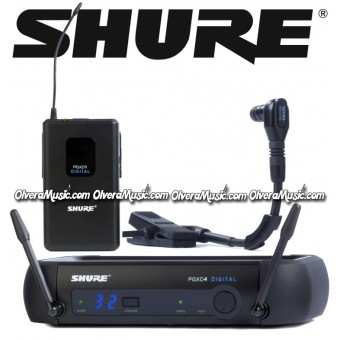 SHURE Gooseneck Wireless System - Instrument Microphone
