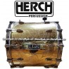 HERCH Bass Drum 20x24 Gold Color Aztec Calendar Design 12-Lug