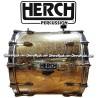 HERCH Bass Drum 20x24 Gold Color Aztec Calendar Design 12-Lug