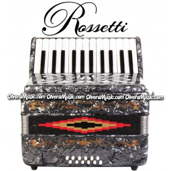 ROSSETTI Piano Accordion 12-Bass / 25-Key - Grey